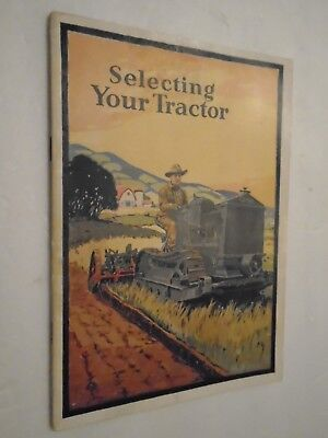 Vintage Cletrac Tank-Type Tractor Selecting Tractor Brochure Complete 32 Pgs.