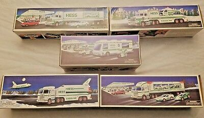 Lot Of 5 Hess Toy Truck Collection
