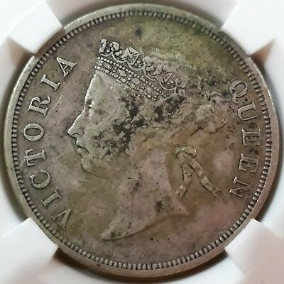 Straits settlements Queen Victoria 1899 50 cents ( XF )