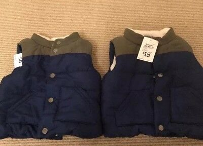 Target Twin Baby Bundle 3-6 Months Padded Vests