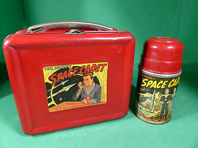 Aladdin Tom Corbett Space Cadet Lunchbox + Thermos Space Toy - Tintoy 1952