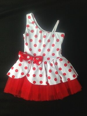 Skating / Dance / Twirling Dress - Red/white