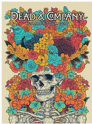 2018 Dead And Company Summer Tour VIP Poster Signed And Numbered By John Vogl