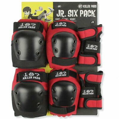 187 Junior Protective Six Pack Red