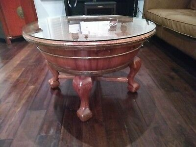 Antique Wood Baby Bath repurposed as a Coffee Table