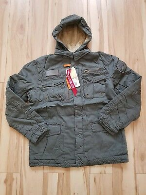 official photos 7e78a db922 ALPHA INDUSTRIES ROD Jacke Fliegerjacke Winterjacke Parka ...