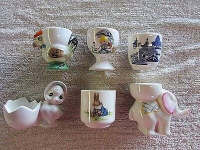 Vintage Egg Cups x 6 including a Bunnykins