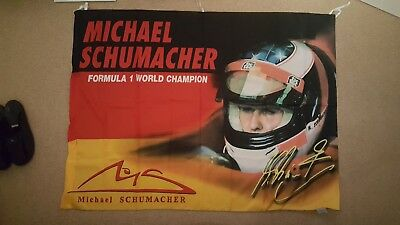 Michael Schumacher Flagge Fahne F1 World Champion