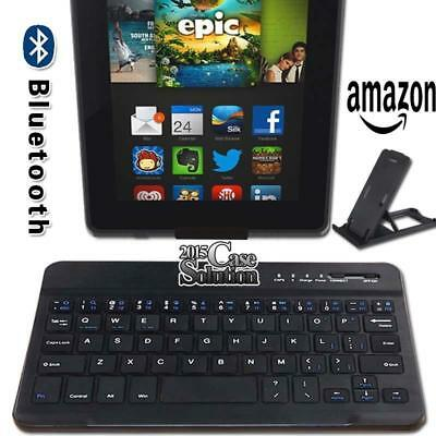 """For Amazon Fire 7"""" 8"""" Tablet Slim Wireless Bluetooth Keyboard + Stand Holder"""
