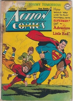 Mrj/ Action Comics #128 Jan 1949 Superman Tommy Tomorrow Zatara Vigilante Fa