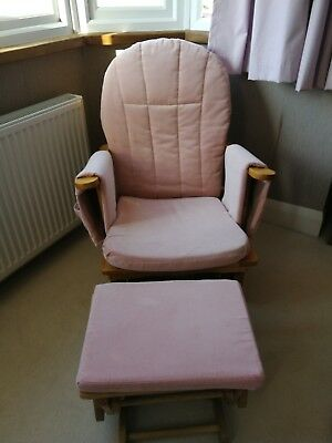 Gliding Nursing Chair and matching Foot Stool
