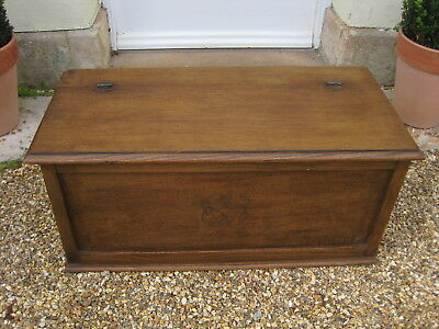 Light Oak Blanket Toy Box Coffer Ottoman
