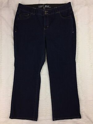 Lane Bryant Womens Jeans Size 20 Petite Straight Dark Tighter Tummy Technology