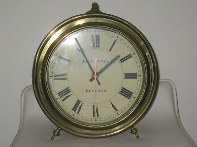 Old Brass Drum Cased Clock  - 10 inches