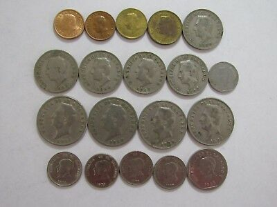 Lot of 2 Different Old El Salvador Coins - 1972 and Unknown - Circulated
