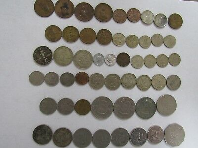 Lot of 53 Different Philippines Coins - 1938 to 2009 - Circulated