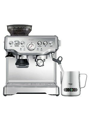 Brand New SAGE The Barista Express Bean to Cup Coffee Machine Steel / Silver