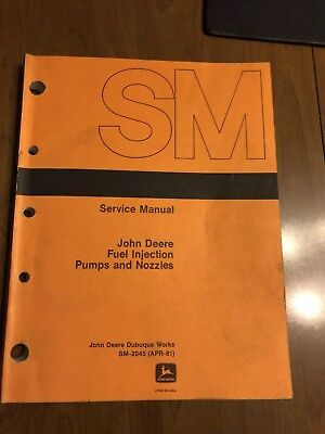 John Deere SM 2045 Fuel Injection Pumps And Nozzles Service Manual