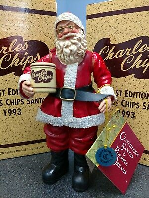 CHRISTMAS  Clothique by Possible Dreams 1st Edition 1993 CHARLES CHIPS SANTA