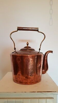 Antique Vintage Beautiful Old Copper Kettle