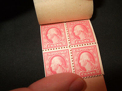 USA Back of the Book:  BK51 463a BC5A partial booklet: MNH pair block of four
