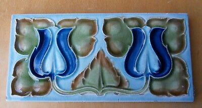 "Original  English  Art Nouveau tile , c1905/7 6""x3""Tile ref 77 one tile only"