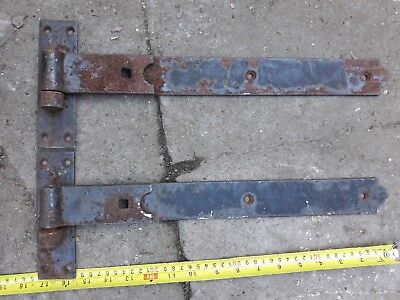 Vintage Iron T gate door hinges