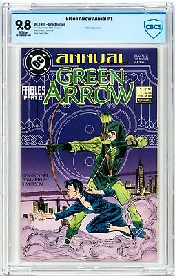 Green Arrow Annual #1 CBCS 9.8 Batman 1988 DC