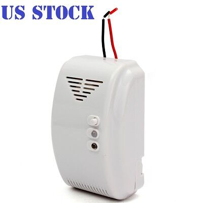 12V Combustible Gas Leak LPG Natural Gas Detector Propane Alarm For RV Van Boat