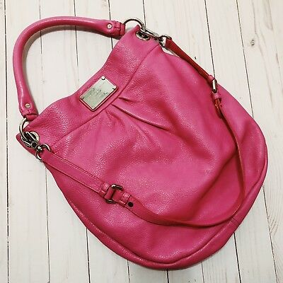 Marc By Marc Jacobs Classic Q Hillier Hobo Shoulder Bag Hot Pink  DISCONTINUED 4c1e14faccbb