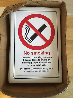 No Smoking Stickers 300 x 200mm 379 In Total
