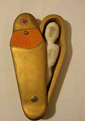 Egyptian coffin Sarcophagus With Mummy Large Hand made 18""