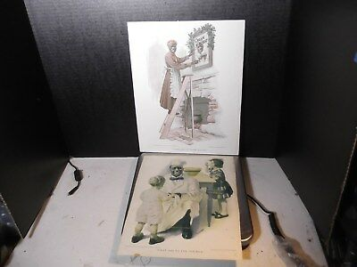 VINTAGE 2 CREAM OF WHEAT ADVERTISEMENTS ONE ON CARDBOARD BACKER w/COPYRIGHT 1912