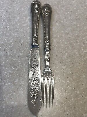 Victorian Fish Knife And Fork