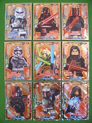 Lot of 9 Lego Star Wars Cards Limited Editions LE10 to LE18 From Collector Tins