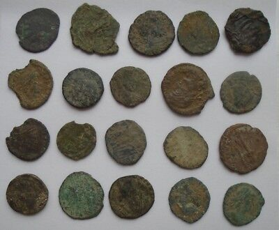 Ancient Roman C. 3Rd-4Th Century A.d. Coin Mixed Bulk Lot