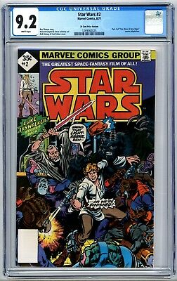 Star Wars #2 CGC 9.2 35 Cent Price Variant A New Hope 1977 Marvel