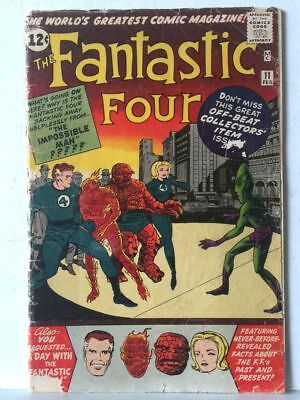 Fantastic Four # 11 FAIR/GD 1.5 Low Grade (Pin Up Untouched) No Reserve