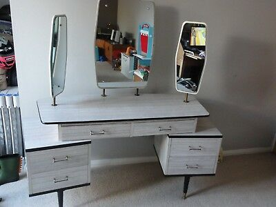 Vintage Berry Designs In Melamine Dressing Table 1960's