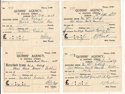 Ireland. Invoices from Dublin city.1930s to1960s
