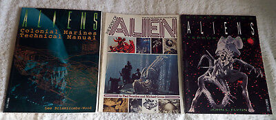 3 X Alien Film Movie Tie In Books Highly Collectible Rare Sci Fi Good Condition