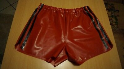 Latex Shorts in rot Gr. XL