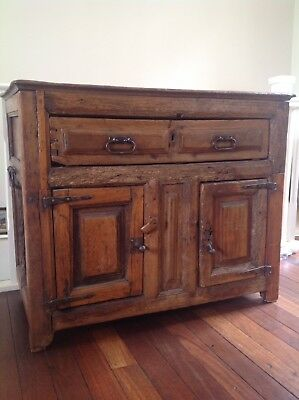Antique French Solid Wood Sideboard