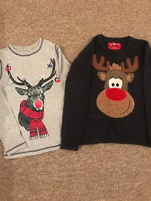 Boys Christmas Top And Jumper Age 8 &8-9