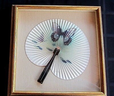 """Antique Professionally Framed """"chinese"""" Hand Fan!!!"""