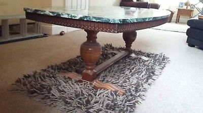 Vintage Heavy Marble Topped Table.