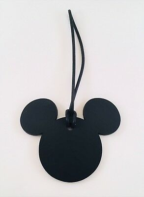 Disney Parks Mickey Mouse Black Suitcase Luggage Bag Tag NEW