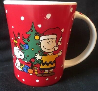 Peanuts Christmas MUG Cup - Good Will to All - Charlie Brown & Snoopy Holiday