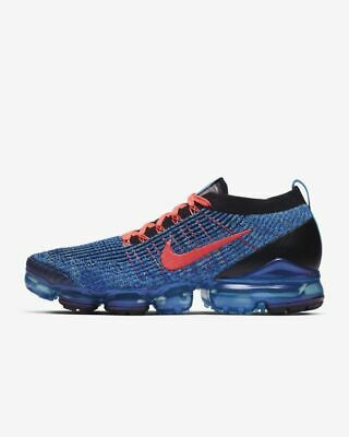 Nike Air Vapormax Flyknit 2 Av7973-001 Wolf Grey Pure Platinum Total Orange