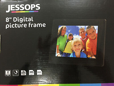 NEW 8 Inch Jessops Digital Photo Frame Black